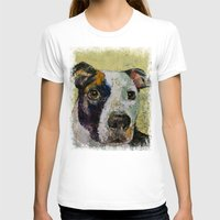 Pit Bull Womens Fitted Tee White SMALL