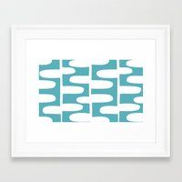 Hopscotch - Pond Framed Art Print