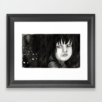 Behind You Framed Art Print