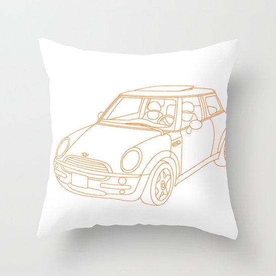 My Mini Cooper Throw Pillow