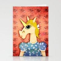 Big Eyes Unicorn Stationery Cards