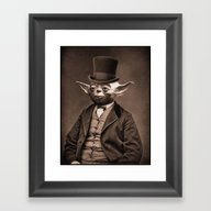 Portrait Of Sir Yoda Framed Art Print