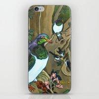 Pigeons, Parakeets and Fantails iPhone & iPod Skin