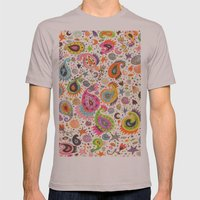 Pretty Paisley Mens Fitted Tee Cinder SMALL