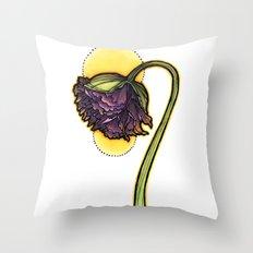 Purple Poppy Throw Pillow