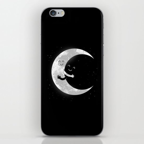 Moon Hug iPhone & iPod Skin
