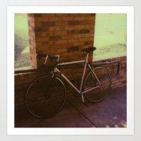 bikes on oak st Art Print