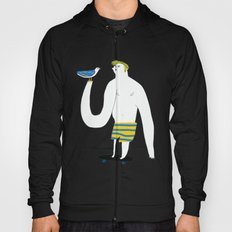 Skateboarding man and bird Hoody