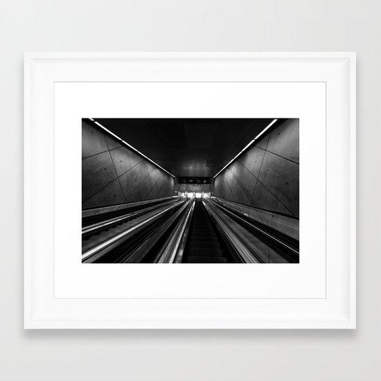 Subway Stairs Framed Art Print