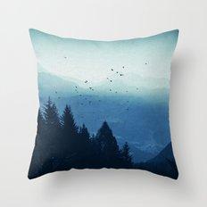 Blue Valmalenco - Alps at sunrise Throw Pillow