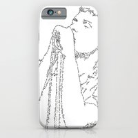iPhone & iPod Case featuring Ian Curtis WordsPortrait by WordsLines