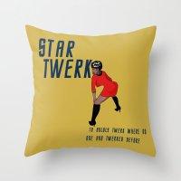 STAR TWERK Throw Pillow