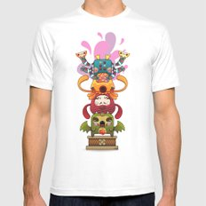 Monster´s Totem Mens Fitted Tee White SMALL