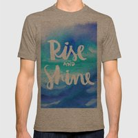 Rise & Shine [Collaborat… Mens Fitted Tee Tri-Coffee SMALL