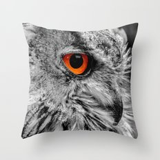 ORANGE OF MY EYE Throw Pillow