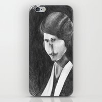 Victoriana Mustached Woman  iPhone & iPod Skin