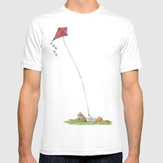 Lazy Days White Mens Fitted Tee SMALL
