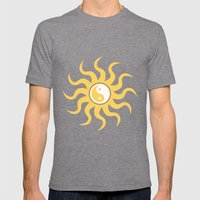 Yin Yang Sunshine Mens Fitted Tee Tri-Grey SMALL