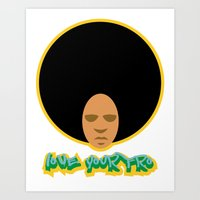 Love the 'Fro Art Print