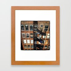 Fire Escape Framed Art Print