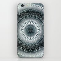 WINTER LEAVES MANDALA iPhone & iPod Skin