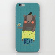 Bear and Bird Buddies iPhone & iPod Skin