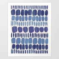 Indigo Stones Art Print