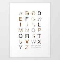 Dog Alphabet Art Print