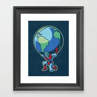 The Weight Of The World Framed Art Print