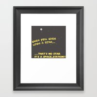 When you wish upon a Star/Space Station Framed Art Print