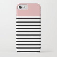 Pinstripe Color Block (Coral) Slim Case iPhone 7