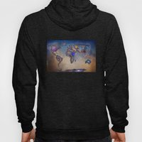 Stars world map. Blue Hoody