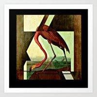 Flamingo Duet 1 Art Print