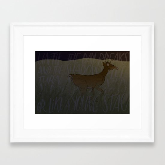 Like a Young Stag  Framed Art Print