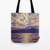 Okanagan Landscape in Purple and Hansa Tote Bag