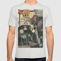 Worlds Within Worlds Mens Fitted Tee Silver SMALL