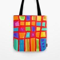 Colorful Grid Tote Bag