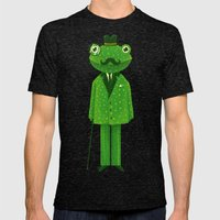 Mr. Frog Mens Fitted Tee Tri-Black SMALL