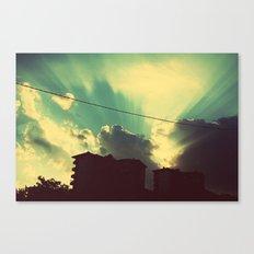 sun goes down Canvas Print