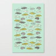 Cute Crocodiles Canvas Print