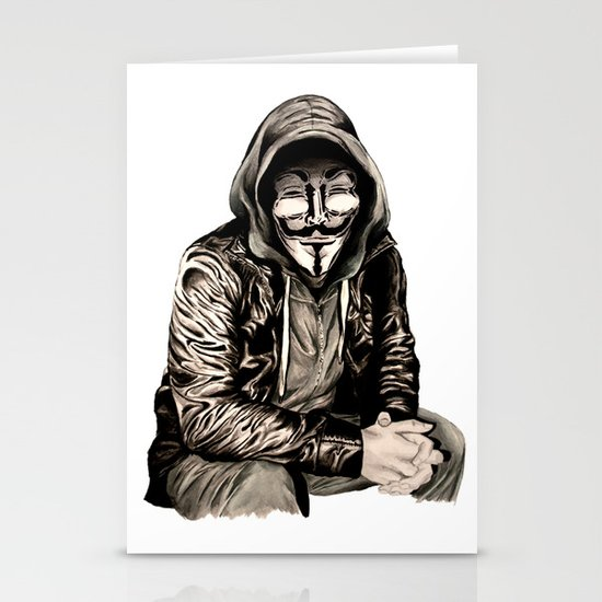 Anonymous Gangster Stationery Card