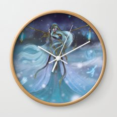 Lady Winter Wall Clock