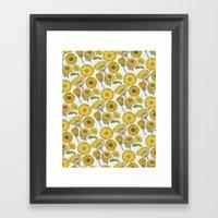 Calendula Florals Framed Art Print