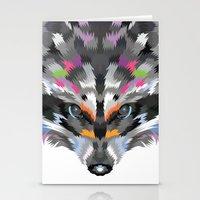 Midnight Raccoon Stationery Cards