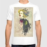Retro Woman Mens Fitted Tee White SMALL