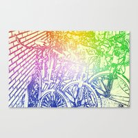 bike yard 2 Canvas Print