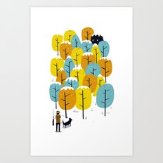 Searching for the monster Art Print