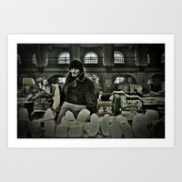 Cheese Seller Art Print