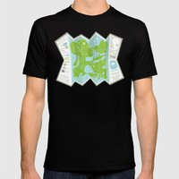 Totally Inaccurate Map O… Mens Fitted Tee Black SMALL