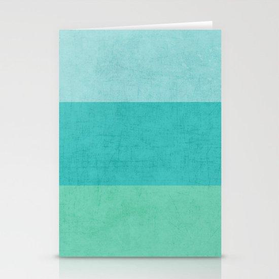 three stripes - teal Stationery Card